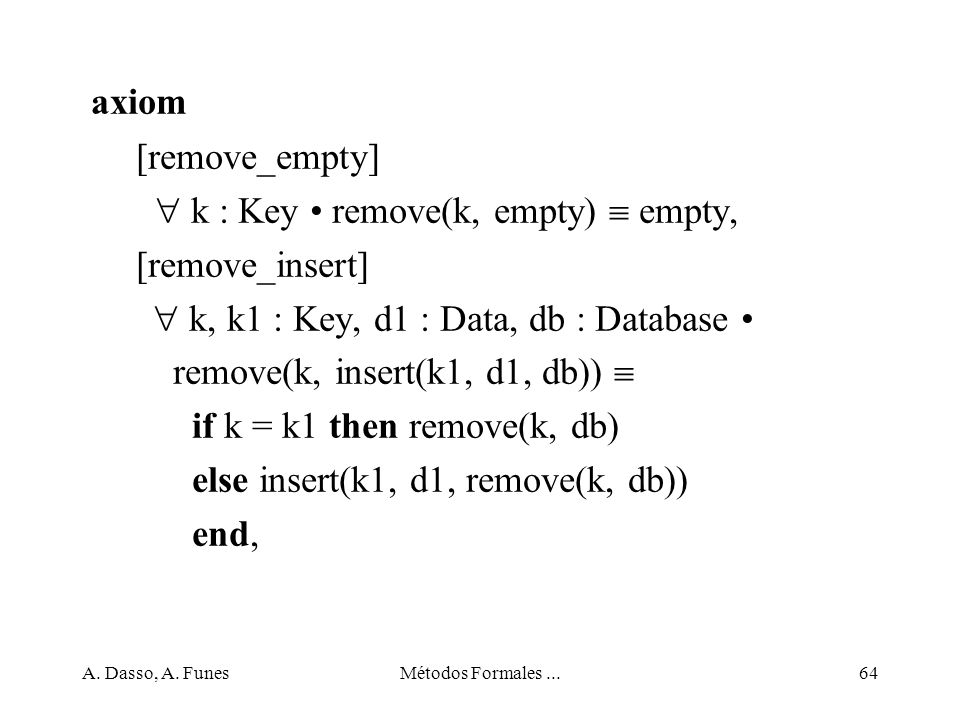 axiom [remove_empty]  k : Key • remove(k, empty)  empty,